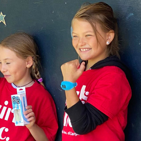 Portable Sanitizer Wristband Donated to Girls Inc.