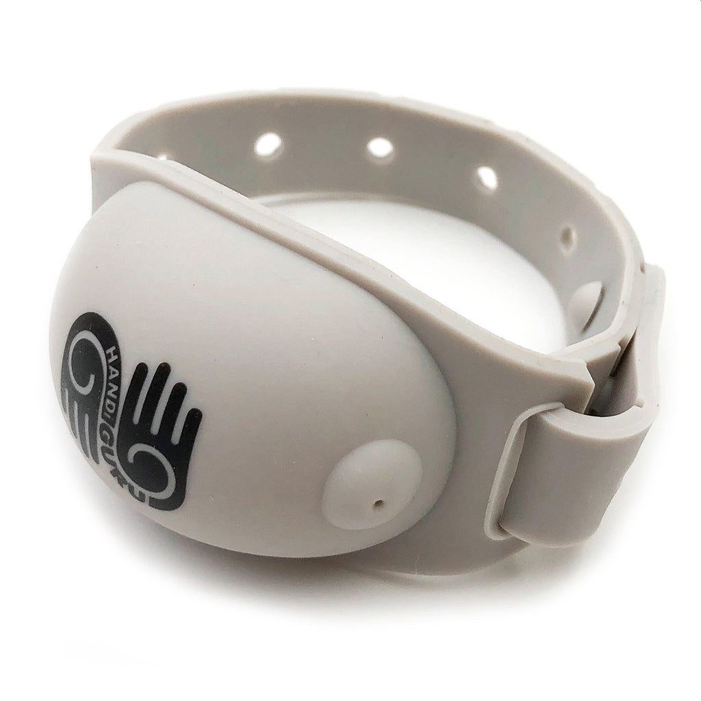 HandiGuru Refillable Sanitizer Wristband Bracelet - Guru Gray