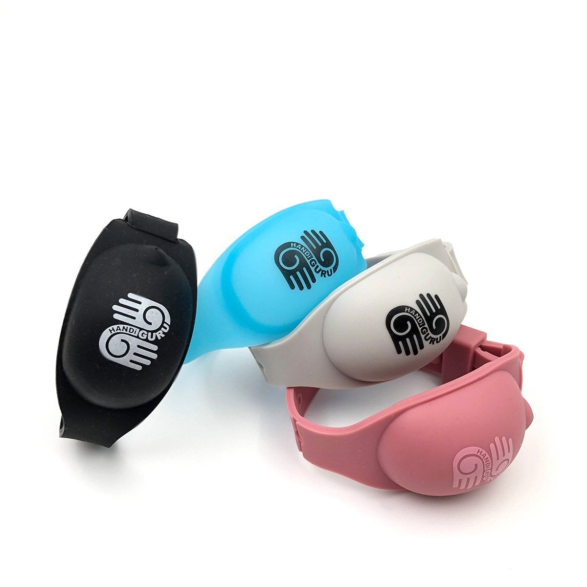 HandiGuru refillable silicone solid color Wristband
