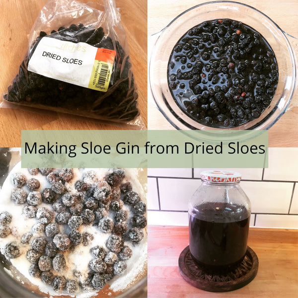Making Sloe Gin with Dried Sloes