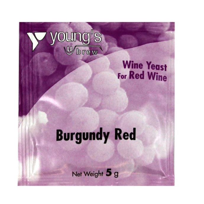 Young's Burgundy Red Wine Yeast (5g) - Almost Off Grid