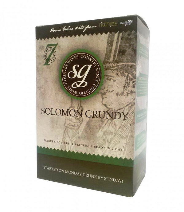 Ritchies Solomon Grundy Strawberry<br>6 Bottle Fruit Wine Kit - Almost Off Grid
