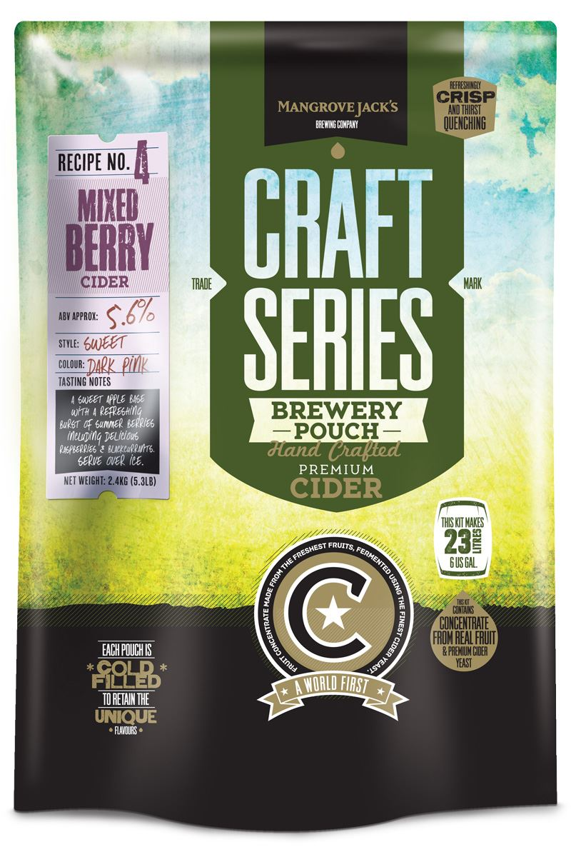 Mangrove Jack's Craft Series Mixed Berry Cider Kit - Almost Off Grid