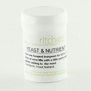 Ritchies Wine Yeast & Nutrient (100g) - Almost Off Grid