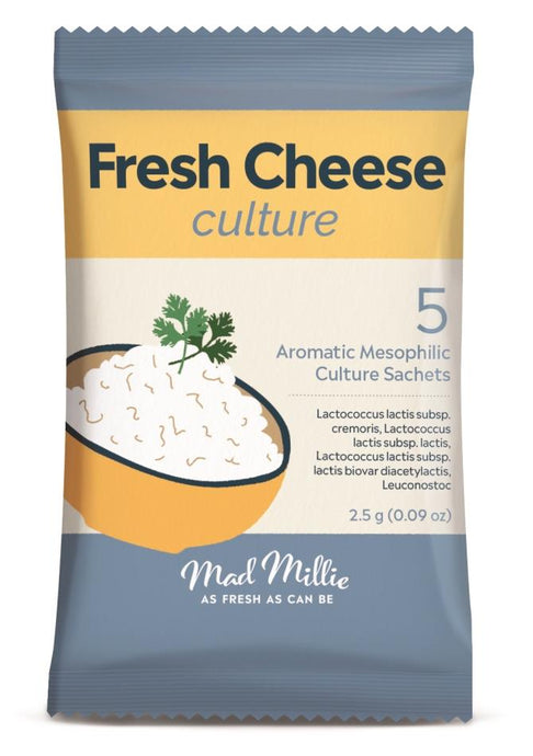 Mad Millie Fresh Cheese (Armoatic Mesophilic) Culture Sachets (5) - Almost Off Grid