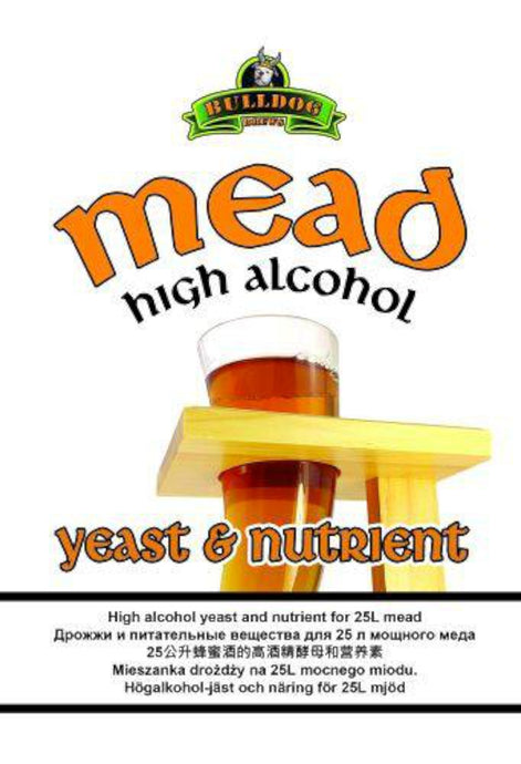 Bulldog Brews High Alcohol Mead Yeast & Nutrient (28g) - Almost Off Grid