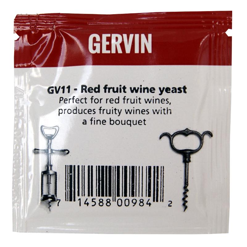 Muntons Gervin GV11 Red Fruit Wine Yeast (5g) - Almost Off Grid