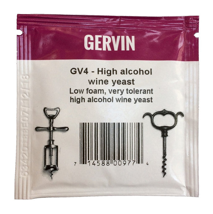 Muntons Gervin GV4 High Alcohol Wine Yeast (5g) - Almost Off Grid
