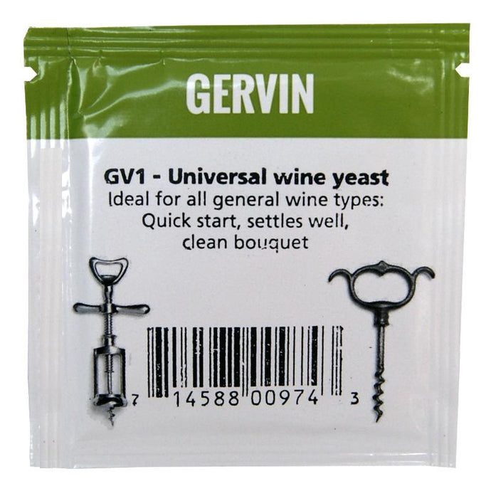 Gervin GV1 Universal Wine Yeast (5g) - Almost Off Grid