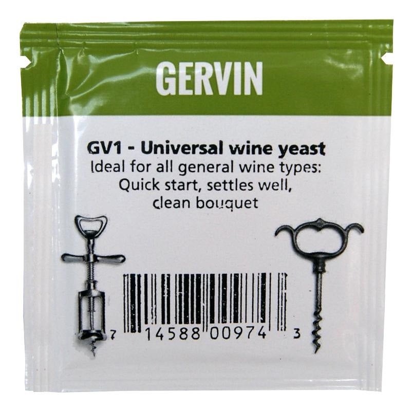 Muntons Gervin GV1 Universal Wine Yeast (5g) - Almost Off Grid