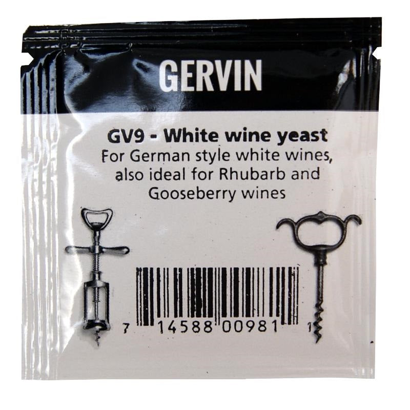 Muntons Gervin GV9 White Wine Yeast (5g) - Almost Off Grid