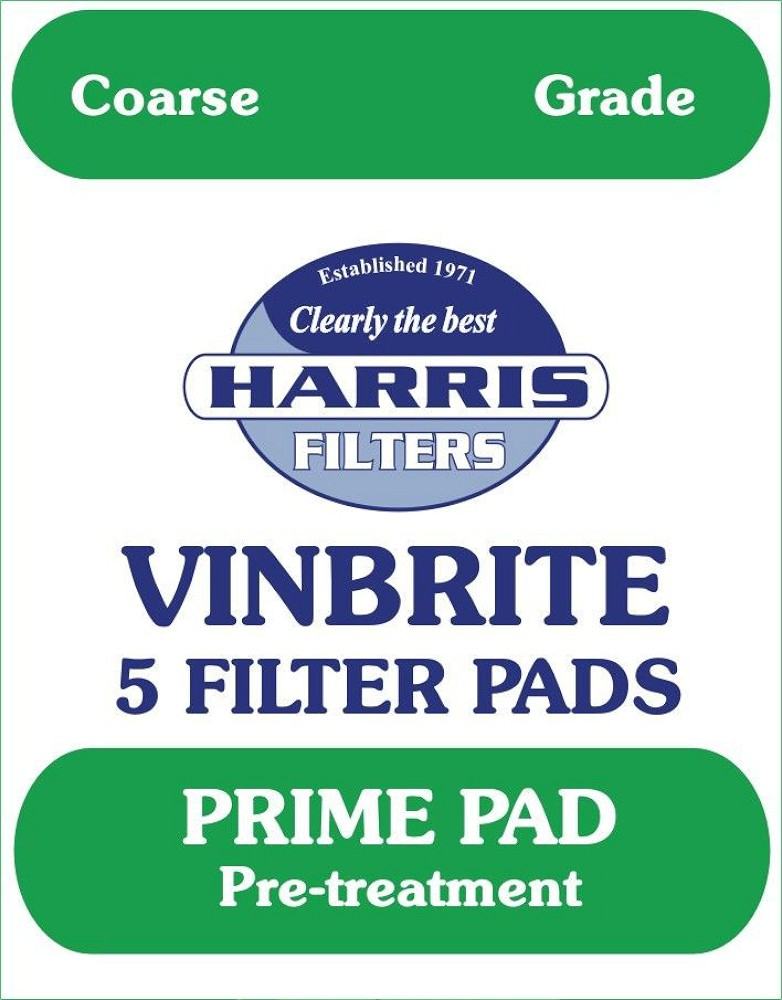 Harris Filters Vinbrite Coarse Filter Pads<br>(Pack of 5) - Almost Off Grid