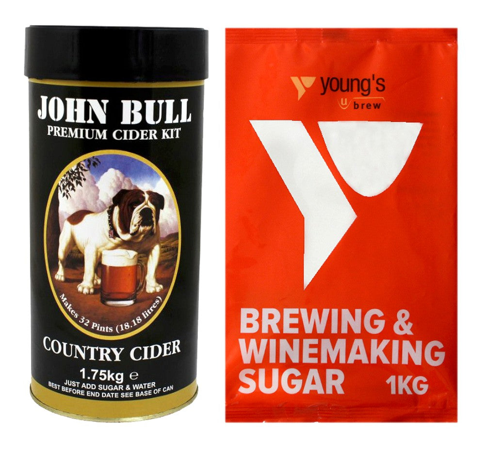 Young's John Bull Premium Country Cider Kit + 1kg Sugar - Almost Off Grid