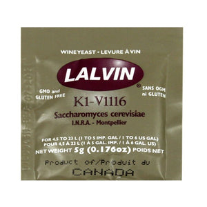 Lallemand Lalvin All Purpose Yeast<br>K1-V1116 (5g) - Almost Off Grid