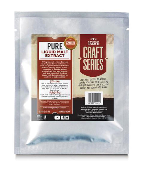 Mangrove Jack's Pure Liquid Malt Extract - Amber (1.5kg) - Almost Off Grid