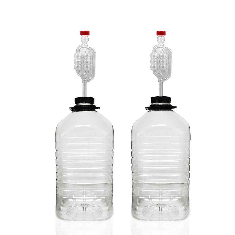 Almost Off Grid PET Plastic Demijohns (5L) & Airlocks (x2) - Almost Off Grid