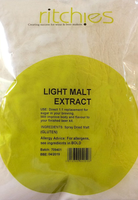 Ritchies Light Spray Dried<br>Malt Extract (DME) (1kg) - Almost Off Grid