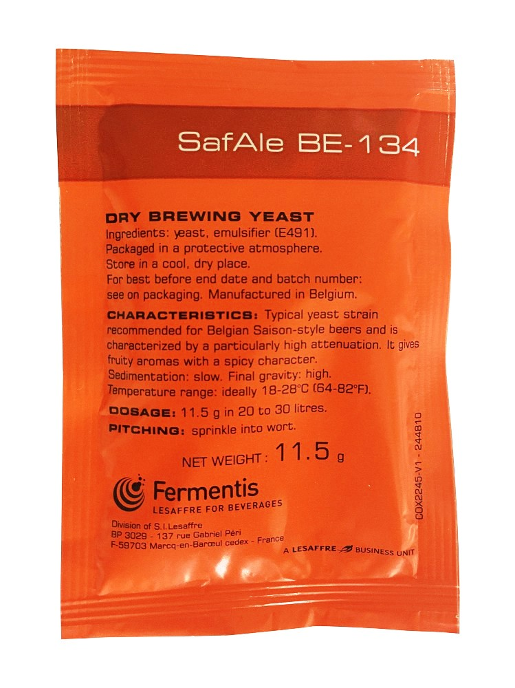 Fermentis SafAle BE-134 Belgian Saison-style Yeast - Almost Off Grid
