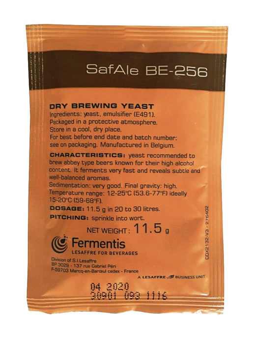Fermentis Safale BE-256 Abbey Trappist Beer Yeast - Almost Off Grid