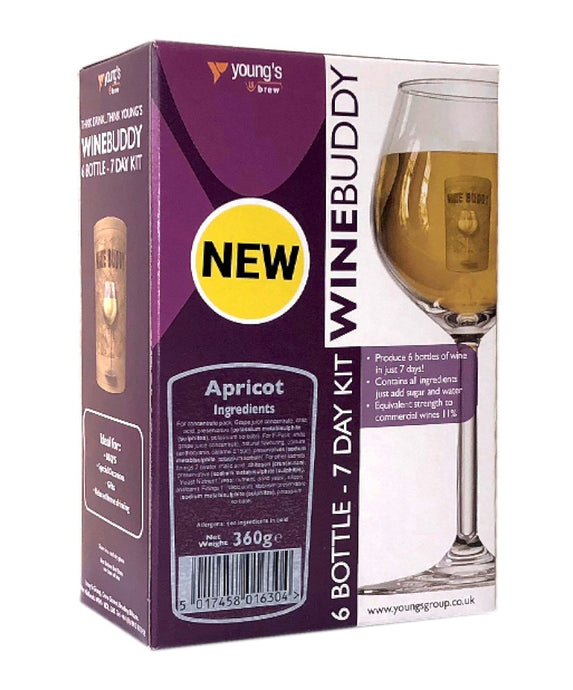 Young's WineBuddy Apricot Fruit Wine Kit - Almost Off Grid