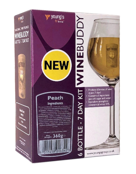 Young's WineBuddy Peach Fruit Wine Kit - Almost Off Grid