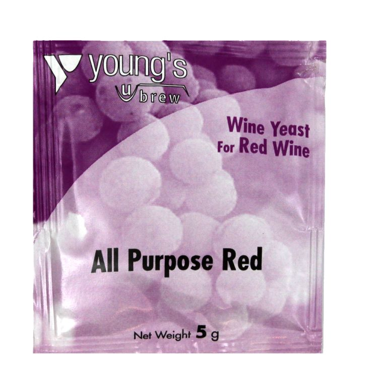 Young's Young's All Purpose Red Wine Yeast (5g) - Almost Off Grid