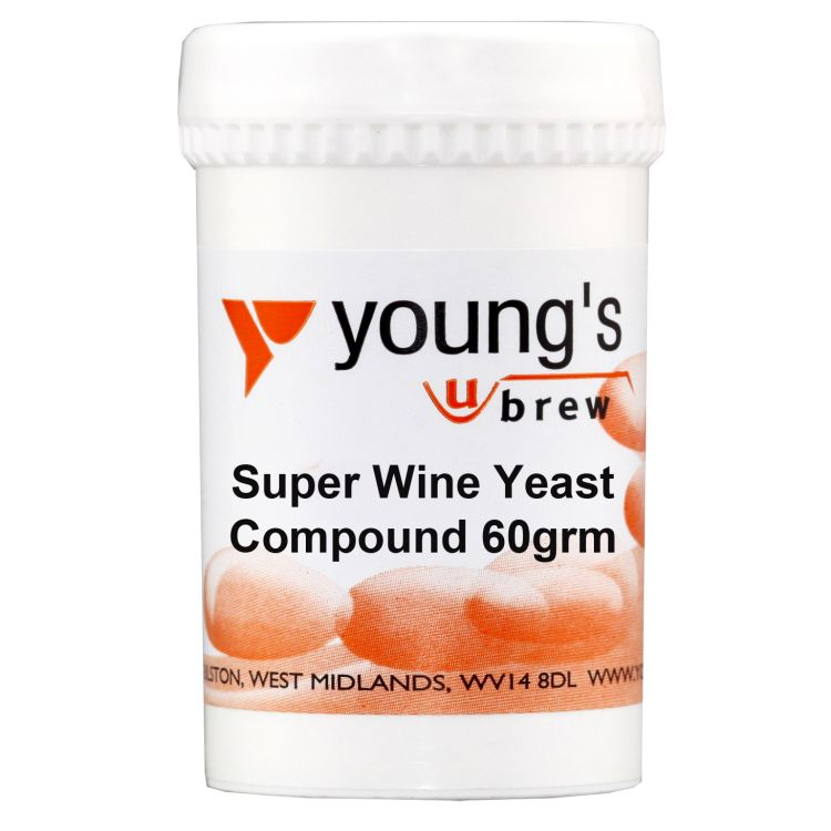 Young's Young's Super Wine Yeast Compound (60g) - Almost Off Grid