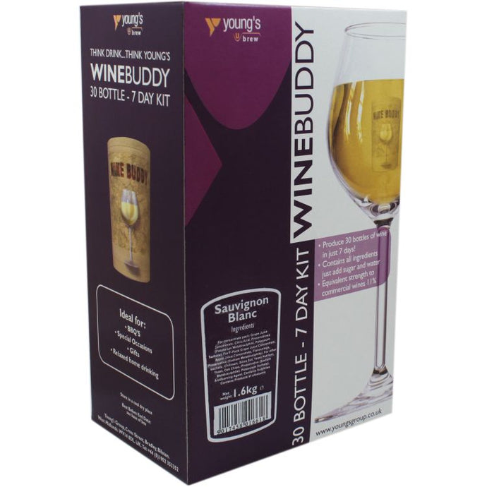 Young's WineBuddy Sauvignon Blanc<br>Wine Kit (30 Bottles) - Almost Off Grid