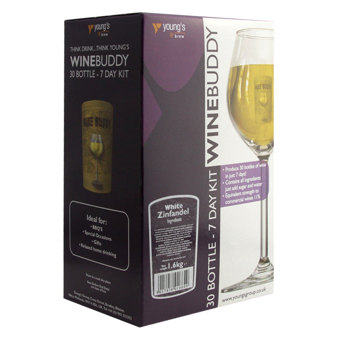 Young's Winebuddy White Zinfandel<br>Wine Kit (30 Bottles) - Almost Off Grid