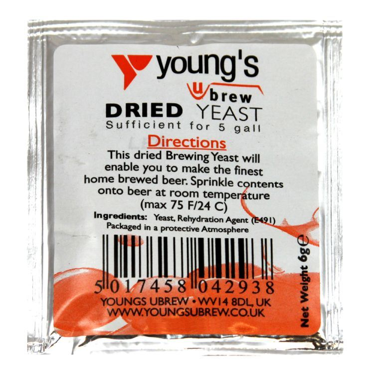 Young's Dried Beer Yeast (5g) - Almost Off Grid