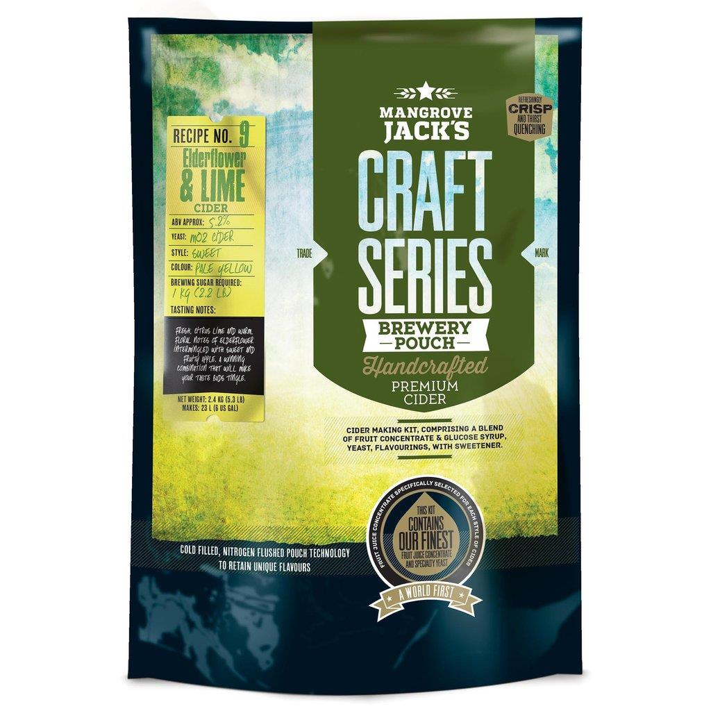 Mangrove Jack's Craft Series Elderflower & Lime Cider Kit - Almost Off Grid