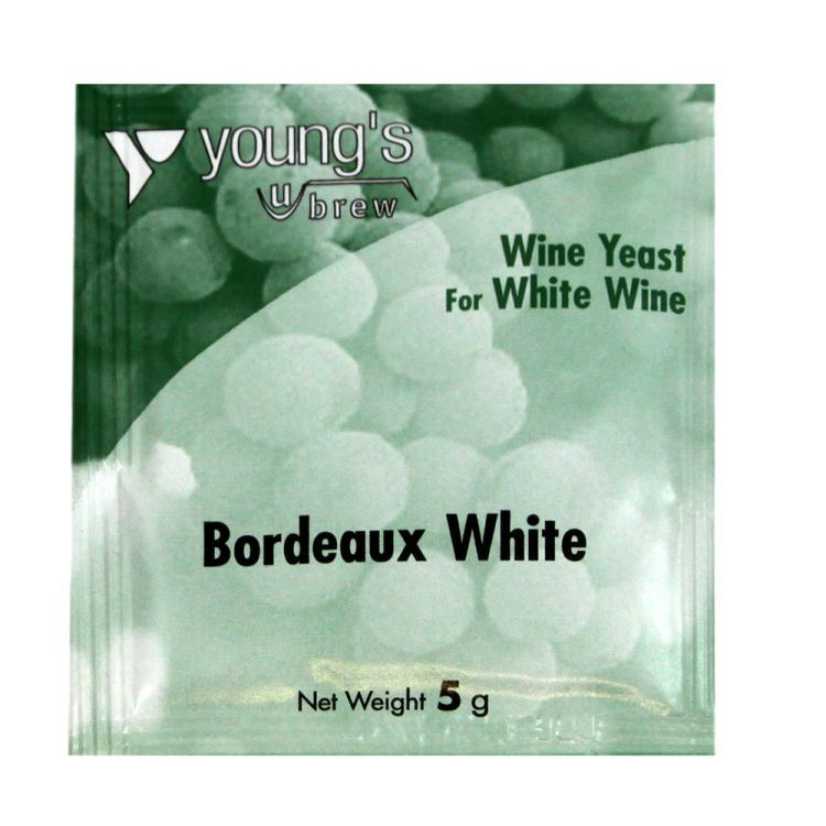 Young's Bordeaux White Wine Yeast (5g) - Almost Off Grid