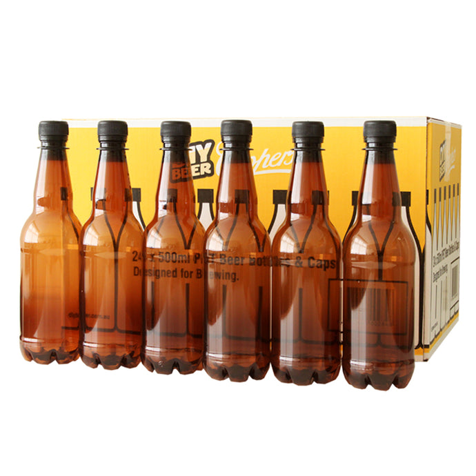Coopers PET Beer 500ml Bottles & Caps (24) - Almost Off Grid