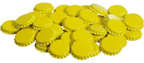 Almost Off Grid Yellow Crown Caps (100) - Almost Off Grid