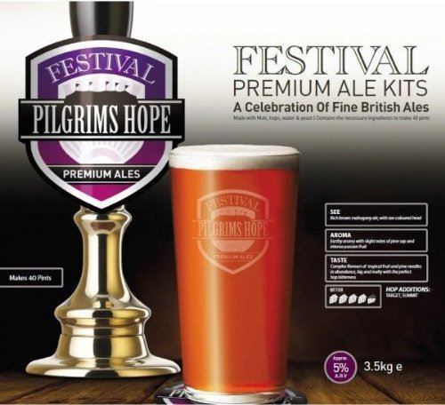 Ritchies Festival Pilgrims Hope Dark Bitter Beer Kit 1282 - Almost Off Grid