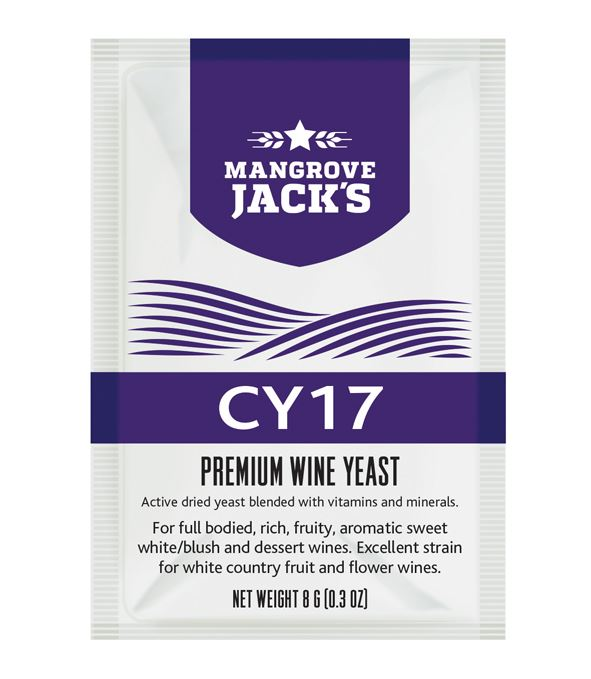 Mangrove Jack's Premium Wine Yeast (CY17) - Almost Off Grid