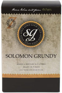 Solomon Grundy Gold Piesporter Style Wine Kit 30 bottle 23L