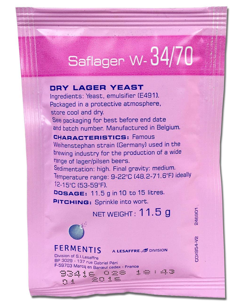 Fermentis Saflager W-34/70 Yeast - 11.5 g - Almost Off Grid