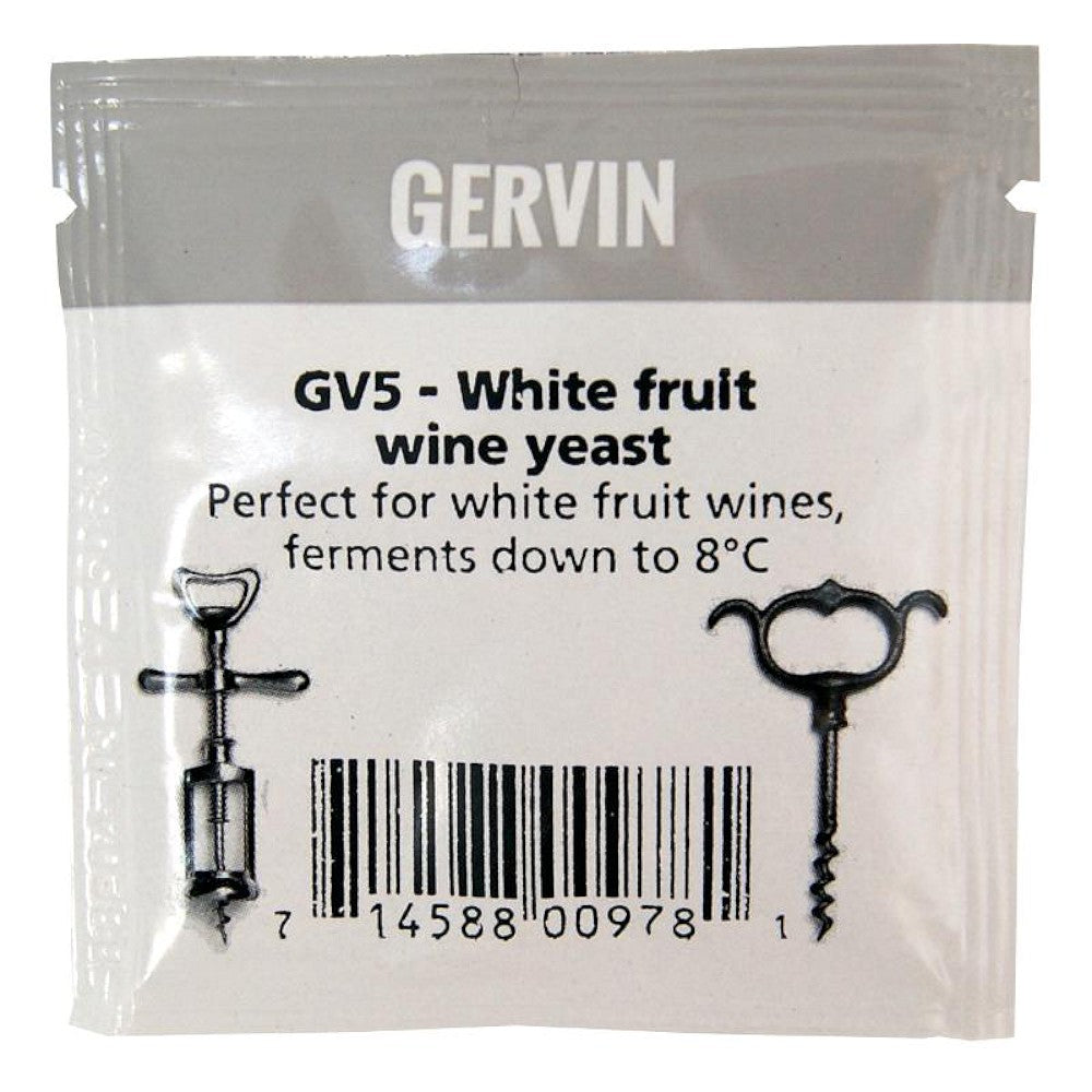 Muntons Gervin GV5 White Fruit Wine Yeast (5g) - Almost Off Grid