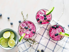 Blueberry Fizzy Cocktail