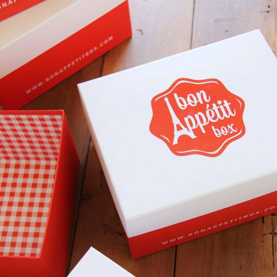 French gourmet boxes are presented in our beautiful Bon Appétit Box