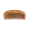 Breezelike No Static Sandalwood Pocket Wide Tooth Comb with Golden Flower Painting