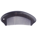 Breezelike No Static Curving Ebony Wood Fine Tooth Pocket Comb