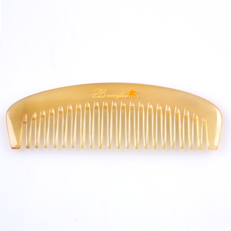 Breezelike No Static Sheep Horn Wide Tooth Comb for Detangling