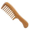 Breezelike No Static Sandalwood Wide Tooth Comb for Detangling