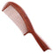 Breezelike No Static Swallow Tail Handle Red Sandalwood Comb