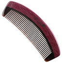 Breezelike No Static Handleless Black Buffalo Horn with Purpleheart Wood Comb