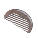 Breezelike No Static Small Half Round Chacate Preto Wood Pocket Comb
