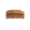 Breezelike No Static Mini Size Sandalwood Pocket Wide Tooth Comb