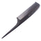 Breezelike No Static Ebony Wood Comb Fine Tooth Teasing Tail Comb with Long and Thin Handle